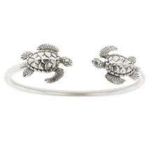 Sea Turtle Sterling Silver Tube Bracelet | Kabana Jewelry | Kbr330 -3