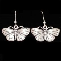 Butterfly Sterling Silver Earrings | Kabana Jewelry | Ke328