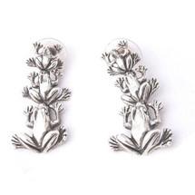Frog Sterling Silver Dangle Earrings | Kabana Jewelry | Ke662