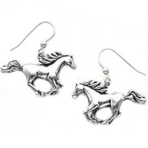 Cantering Horse Sterling Silver Earrings   Kabana Jewelry   Ke993
