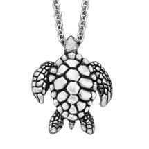 Sea Turtle Sterling Silver Pendant Necklace | Kabana Jewelry | KP288