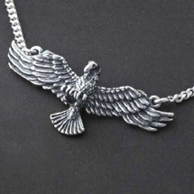 Eagle Pendant Sterling Silver Necklace | Kabana Jewelry
