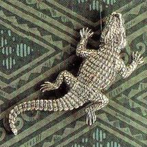 Crocodile Sterling Silver Pin | Kabana Jewelry | Kpn319