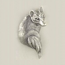 Fox Sterling Silver Pin | Kabana Jewelry | Kpn436