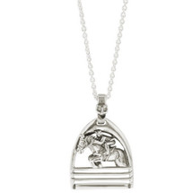 Jumping Horse Pendant Sterling Silver Necklace   Kabana Jewelry   Ksp188