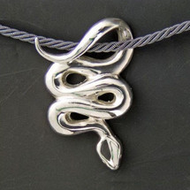 Snake Sterling Silver Pendant Necklace | Anisa Stewart Jewelry