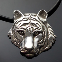Tiger Silver Pendant Necklace | Anisa Stewart Jewelry
