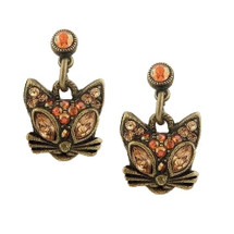 Glamour Kitty Post Dangle Earrings | La Contessa Jewelry | LCER8851XG