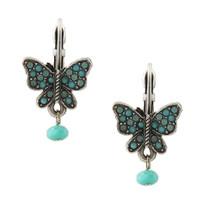 Floribunda Butterfly Earrings | La Contessa Jewelry | LCER9016