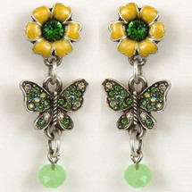 Flower and Butterfly Earrings | La Contessa Jewelry | LCer9165