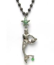 By the Sea Mermaid Necklace   La Contessa Jewelry   LCNK8563GR