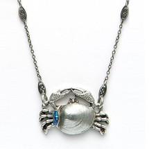 By the Sea Crab Necklace | La Contessa Jewelry | LCNK8566BL