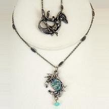 Crab Pave Pendant Necklace | La Contessa Jewelry | LCNK9177BL
