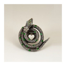 Coiled Serpent Snake Ring | La Contessa Jewelry