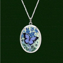 Blue Butterfly Pro Arte Pendant Necklace | Lovell Designs Jewelry | LOVPAS3004PE
