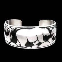 Happy Bear Sterling Silver Bracelet |  Metal Arts Group Jewelry | MAG10203