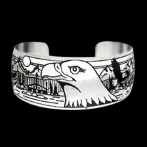 Eagle Silver Bracelet Council Ground |  Metal Arts Group Jewelry