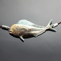 Mahi Mahi Bronze Pendant Necklace   Anisa Stewart Jewelry   ASJbrs1004