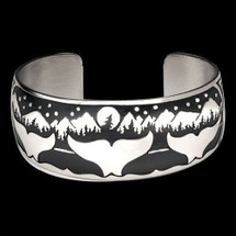 Whale Night Bracelet Sterling Silver |  Metal Arts Group Jewelry | MAG10208