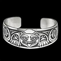 Biorka Bear Sterling Silver Cuff Bracelet |  Metal Arts Group Jewelry | MAG10212