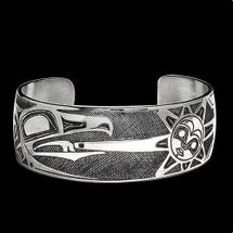 Raven Sun Sterling Silver Cuff Bracelet |  Metal Arts Group Jewelry | MAG10434-S