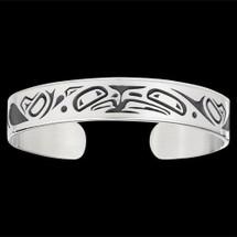 Lovebirds Sterling Silver Tribal Cuff Bracelet    Metal Arts Group Jewelry   MAG10472-S
