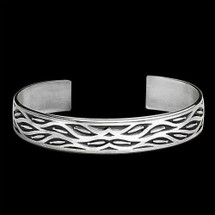 Fish Run Sterling Silver Cuff Bracelet    Metal Arts Group Jewelry   MAG10501