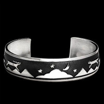 Wolf and Elk Night and Day Bracelet |  Metal Arts Group Jewelry | MAG10503