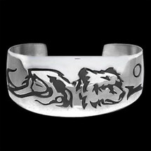 "Bear Sterling Silver Bracelet ""Maiden Clan"" 