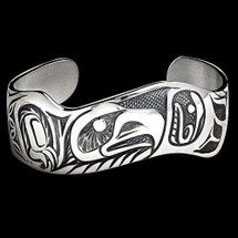 Eagle Pride Sterling Silver Cuff Bracelet |  Metal Arts Group Jewelry