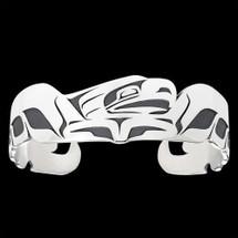 Eagle Spread Tribal Cuff Bracelet Silver |  Metal Arts Group Jewelry