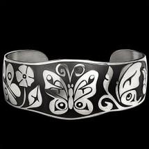 "Butterfly Sterling Silver Bracelet ""Coastal Garden"" |  Metal Arts Group Jewelry | MAG12073"