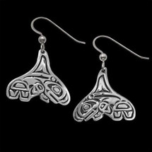 Whale Tail Earrings Breath of Power |  Metal Arts Group Jewelry | MAG20188