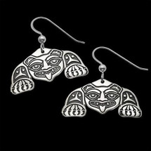 Biorka Bear Tribal Sterling Silver Earrings |  Metal Arts Group Jewelry | MAG20212