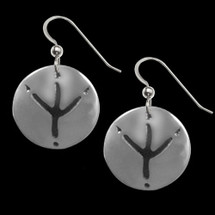 Eagle Trax Sterling Silver Earrings |  Metal Arts Group Jewelry | MAG20614