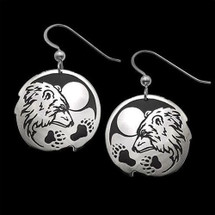 "Bear Sterling Silver Earrings ""Guardian"" |  Metal Arts Group Jewelry | MAG20918"