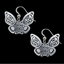 Butterfly Sterling Silver Tribal Earrings |  Metal Arts Group Jewelry | MAG21914