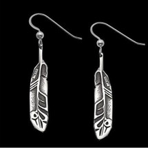 Eagle Feather Earrings Sterling Silver |  Metal Arts Group Jewelry | MAG22060-S