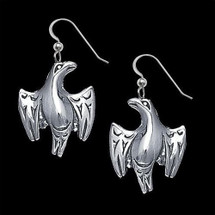 Eagle Sterling Silver Earrings Salish |  Metal Arts Group Jewelry | MAG22330