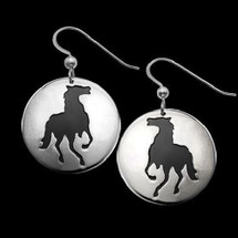 Horse Shadows Silver Earrings    Metal Arts Group Jewelry   MAG22411