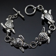 Baby Loggerhead Turtle Sterling Silver Bracelet | Anisa Stewart Jewelry