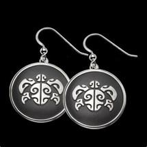 Sea Turtle Honu Head Silver Earrings |  Metal Arts Group Jewelry | MAG27001-S