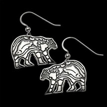Bear Sterling Silver Earrings |  Metal Arts Group Jewelry | MAG27111