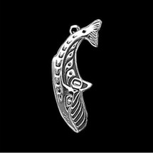 Whale Sterling Silver Pendant Necklace |  Metal Arts Group Jewelry | MAG31116