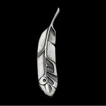 Eagle Feather Silver Pendant Necklace |  Metal Arts Group Jewelry | MAG42060