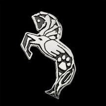 Horse Tribal Sterling Silver Pendant Necklace    Metal Arts Group Jewelry   MAG47109