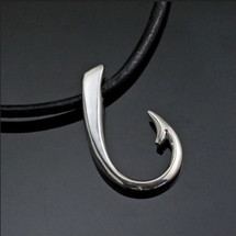 Hook Sterling Silver Pendant Necklace | Anisa Stewart Jewelry | ASJp1017