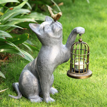 Night of Discovery Cat Garden Lantern | 34192 | SPI Home