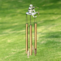 Fishing Frog Tube Wind Chime | 34235 | SPI Home
