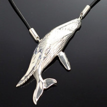 Humpback Whale Sterling Silver Necklace